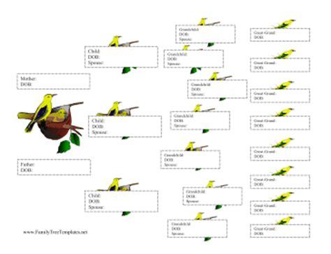 printable descendant family tree descendant chart template