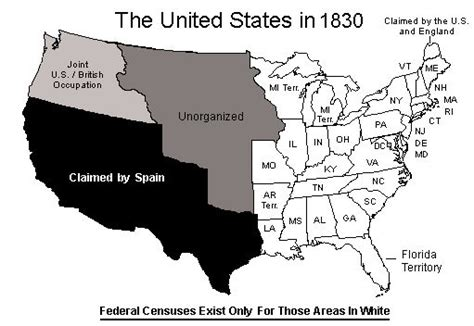 map of the united states in 1830 1830 map gif 511 215 352 pixels genealogy pinterest