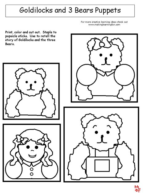 Free Coloring Pages Of The Three Bears Goldilocks And The Three Bears Coloring Sheet