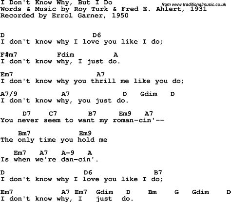 song t song lyrics with guitar chords for i don t know why but i