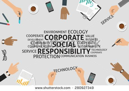 Vector Corporate Social Responsibility Concept Template 280927349 Shutterstock Corporate Social Responsibility Template