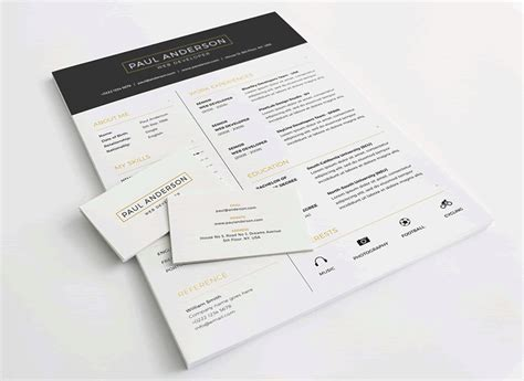 Business Letter Template Photoshop 20 Beautiful Free Resume Templates For Designers