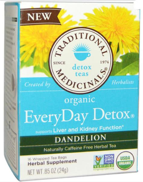 Traditional Medicinals Teas Organic Lemon Everyday Detox by Everyday Detox Dandelion 16 Bag 3 65ea From Traditional