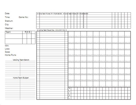 Baseball Scorecard Excel Template by 65 Scoreboard Templates Free Psd Word Excel Ppt