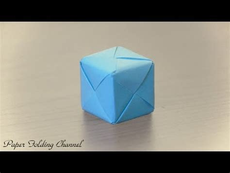 Origami 3d Box - origami changing faces cube print at home