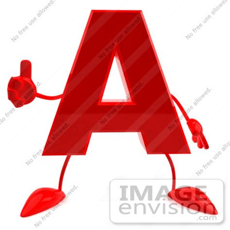 up letter with leg royalty free rf illustration of a 3d letter a