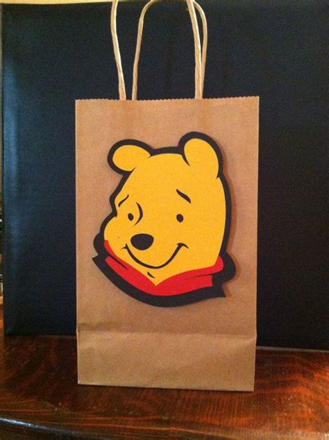 Goodie Bag Resleting Banner Winnie The Pooh 1 set of 6 winnie the pooh large size birthday goody bags with 6 quot character