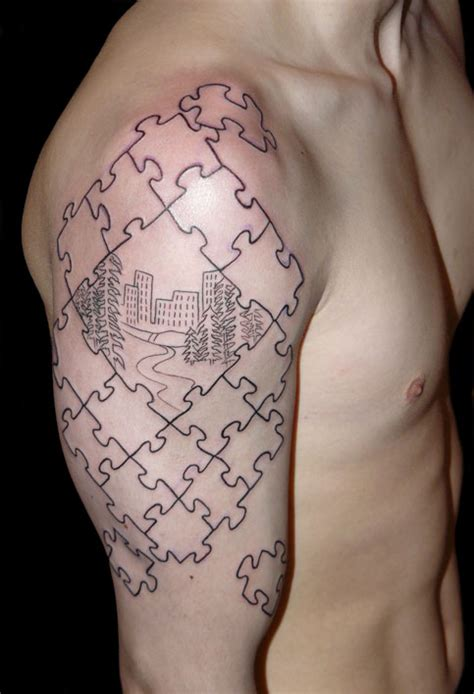 jigsaw puzzle tattoo designs puzzle pieces drawing images