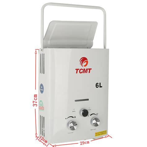 outdoor propane water heater portable 6l lpg 1 6 gpm propane gas tankless outdoor
