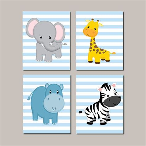 boy nursery art baby boy nursery art jungle animals nursery by