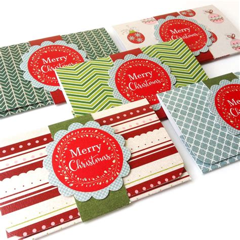 Holiday Money Gift Card Holders - christmas holiday gift card or money holders set of 5