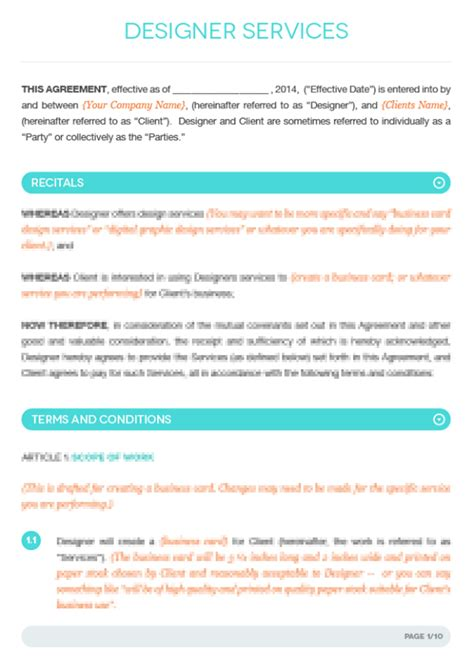 fashion designer contract template fashion designer contract template search logo