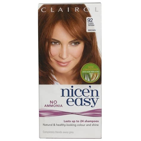 hair color seattle non ammonia nice n easy 92 light warm brown no ammonia semi