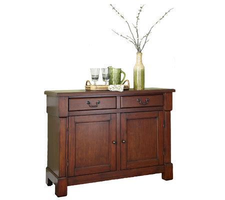 Aspen Buffet In Rustic Cherry Home Styles The Aspen Collection Buffet Qvc