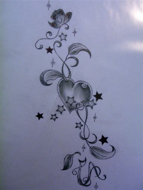 heart and star tattoo designs designs cool tattoos bonbaden