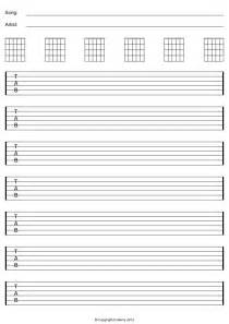 Blank Guitar Sheet by Blank Guitar Tab And Staff Paper A1sites
