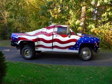 american flag truck celebrate fourth of july with a patriotic ride