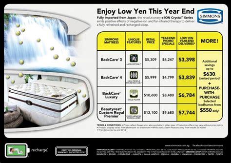 Simmons Mattress Singapore Price simmons low yen year end mattress promotion 2013 fully