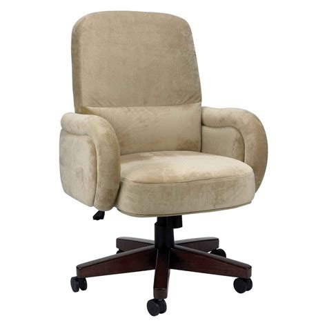 Beige Reading Chair On Wheels With High Back And Arms Design   Decofurnish
