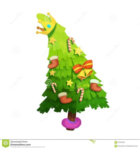illustration the christmas tree wishes you merry