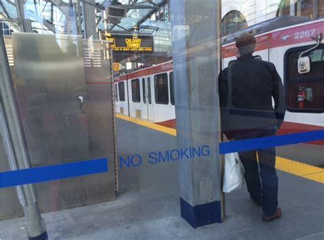 no smoking signs calgary transit no smoking policy hazy for riders 660 news