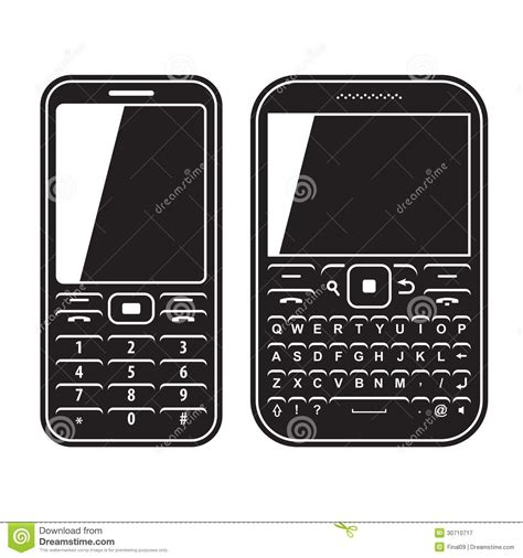 mobile phone set modern mobile set phone with qwerty keyboard royalty free