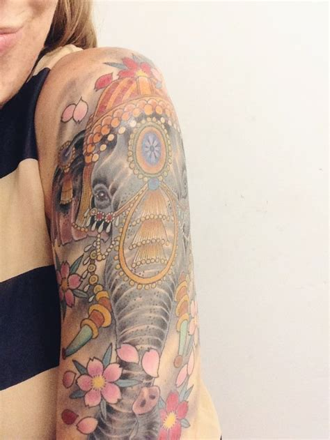 pretty arm tattoos elephant arm tattoos
