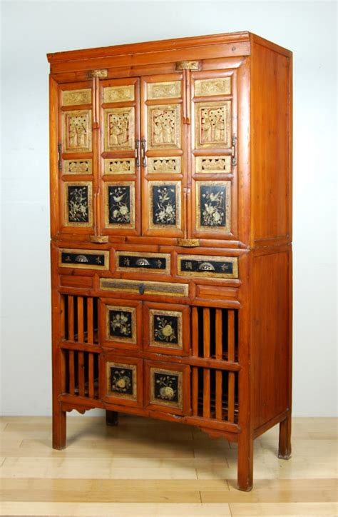 Antique Pantry Cabinet by Antique Kitchen Pantry Cabinet Fujian Chest Ebay