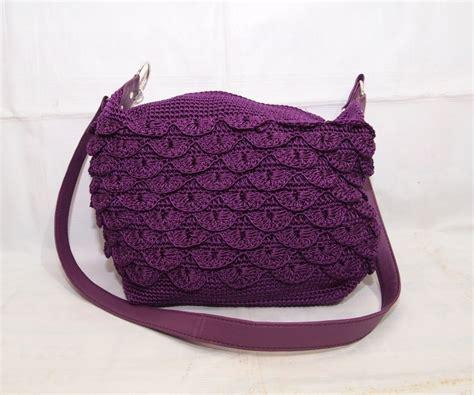 Tas Rajut Handbag 2 Ruang tas rajut benang 2 mode tote dan slempang kode