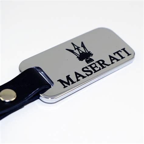 maserati back logo maserati chrome key chain fob black logo