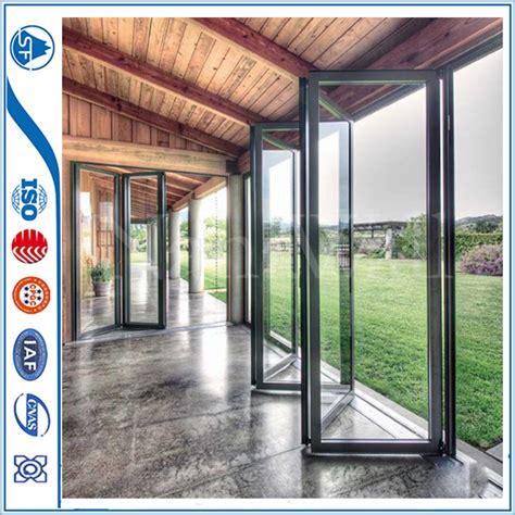 exterior accordion doors aluminum exterior glass accordion folding door from china