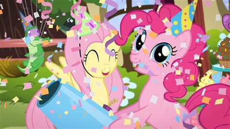 mlp fluttershy happy birthday equestria daily mlp stuff pinkie pie and fluttershy