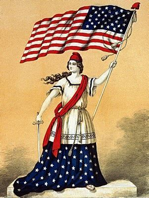 Vintage 4th of July Clip Art   Lady Liberty with Flag