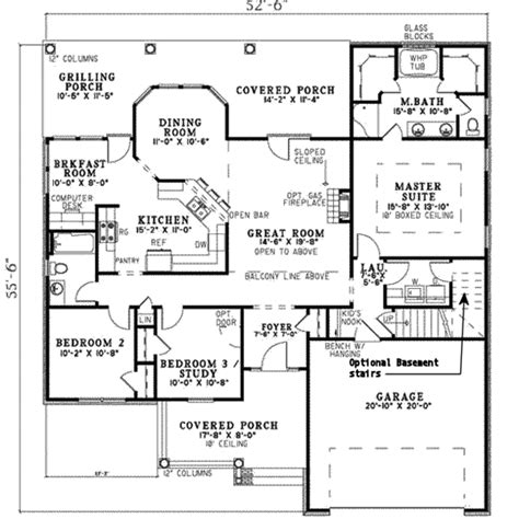 ranch house plans hillcrest 10 557 associated designs country style house plan 3 beds 2 00 baths 1710 sq ft