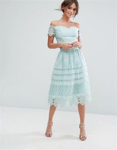 Paneled Denim Flare Mini Skirt 25 best ideas about denim wedding guest dresses on