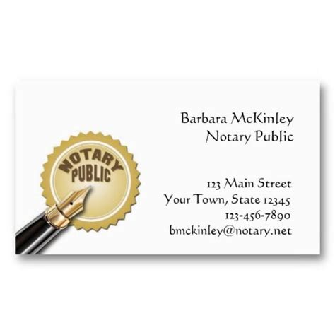 notary business cards templates notary business card card templates business