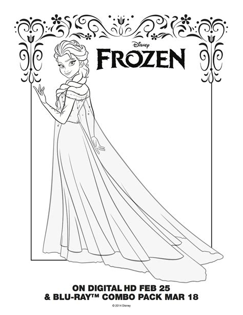 free coloring pages of elsa