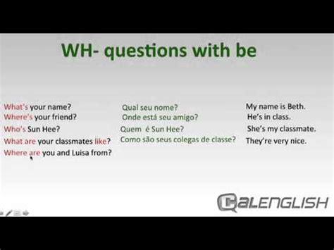 preguntas y respuestas whose wh questions with be youtube