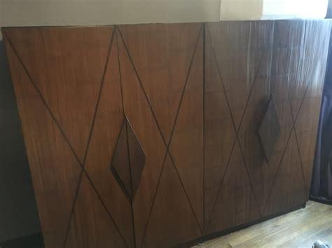 armoire en teck massif et bambou deroul 233 luckyfind