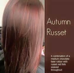 russet colored hair autumn russet hair color ideas photo via