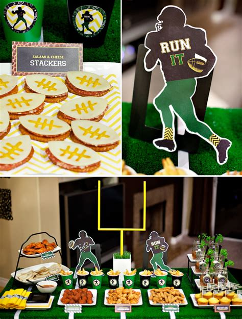 printable theme party decor fun creative big game bash free printables hostess