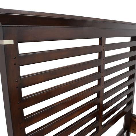 dark wood bed frame 75 off tea trade tea trade dark wood caged queen bed