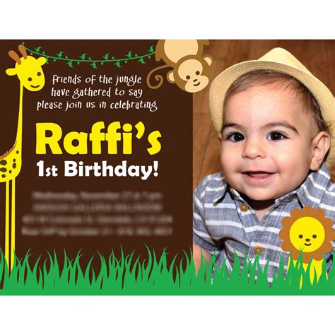 birthday invitation card designs raffi s 1st birthday card design by arpidesign