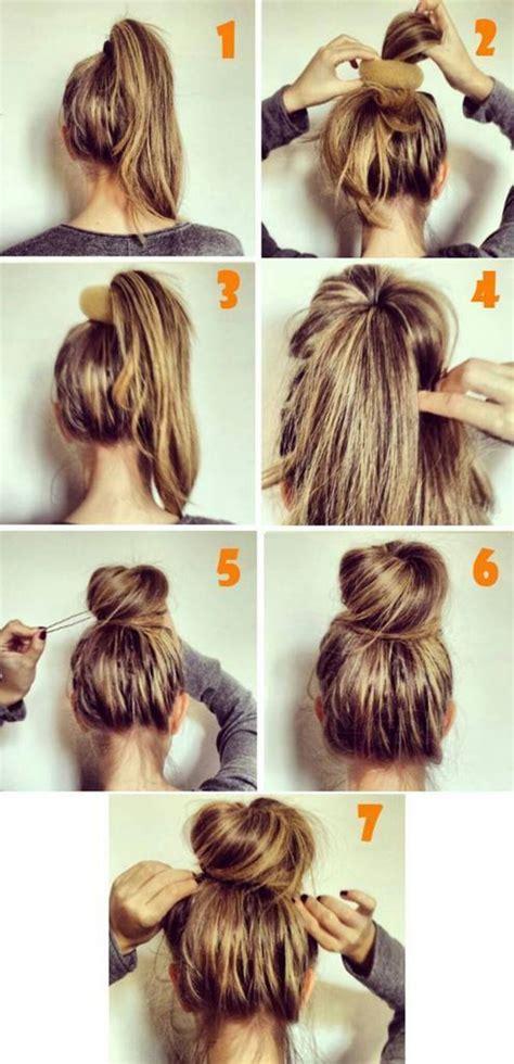 simple buns for medium length hair girls fashion 26 amazing bun updo ideas for long medium length hair
