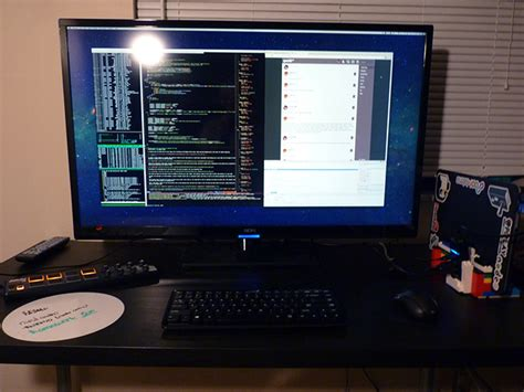 Programmer Desk Setup Seiki 4k Monitor For Programming