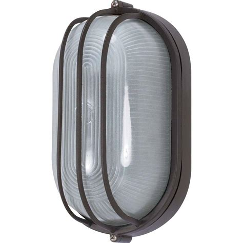 glomar 1 light outdoor architectural bronze oval cage bulk