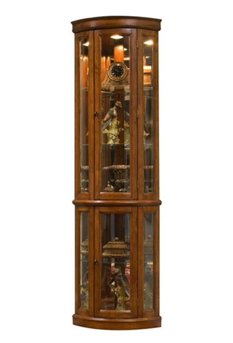 corner curio cabinet in edwardian ii cherry closeout by