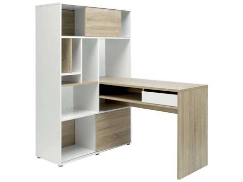bureau 100 cm rangement klass coloris blanc ch 234 ne