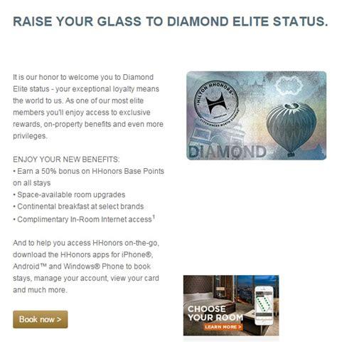 hilton honors diamond status success my ihg platinum status finally matched me to