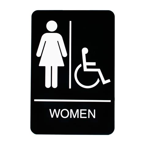 ada bathroom sign women handicap restroom sign